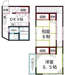 [一戸建] 東京都小平市回田町 の賃貸【/】の間取り