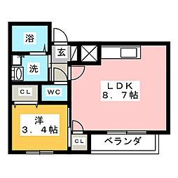 Le Blanc 大須[1階]の間取り