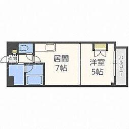 北海道札幌市豊平区旭町5丁目の賃貸マンションの間取り