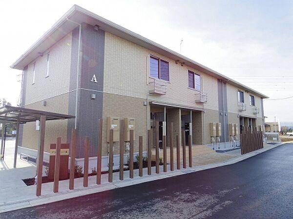 茨城県つくば市松野木の賃貸アパートの外観
