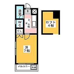リフォレ博多[3階]の間取り