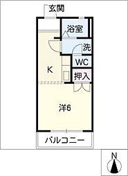 メゾン新栄2[1階]の間取り