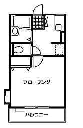 シャンテA[1階]の間取り