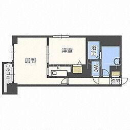北海道札幌市中央区南四条西13丁目の賃貸マンションの間取り