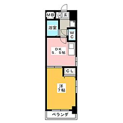 ウィスラー八田[6階]の間取り