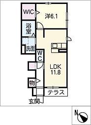 グリーンステージ松井町 A棟[1階]の間取り