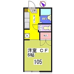 シーンセレガ[105号室]の間取り