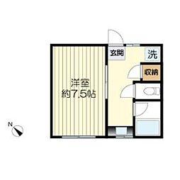中和荘[214号室]の間取り