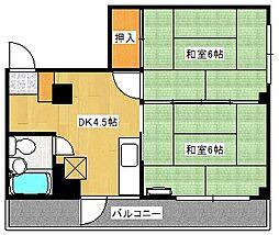 広島県広島市南区宇品海岸2丁目の賃貸マンションの間取り