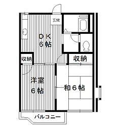 東京都練馬区桜台の賃貸アパートの間取り