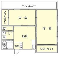 山王日吉ビル[4階]の間取り