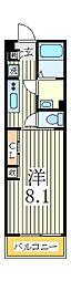 リブリ・N.M.K[3階]の間取り