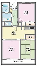 神奈川県横浜市鶴見区獅子ケ谷1丁目の賃貸マンションの間取り