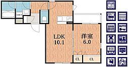 (仮称)阿倍野区播磨町へーベルメゾン[2階]の間取り