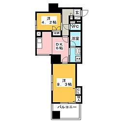 ライオンズマンション大和第5[5階]の間取り