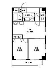 コーラルファーム[2階]の間取り