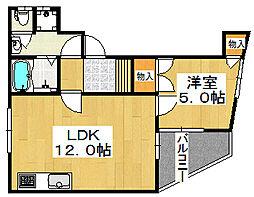 プロパティビル[2階]の間取り