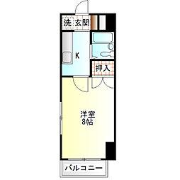 ロイヤルマンション国府津[203号室]の間取り