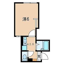 東京都品川区豊町4丁目の賃貸アパートの間取り
