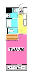 東京都東村山市久米川町3丁目の賃貸マンションの間取り