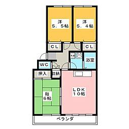 ドミール福島 B棟[1階]の間取り