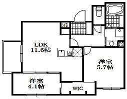 仮)山本通4丁目D-room[2階]の間取り
