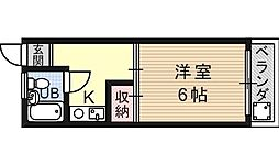 セジュール花山[206号室号室]の間取り