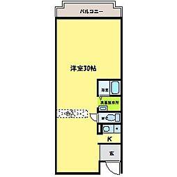 CUBE21[3階]の間取り