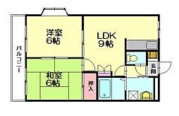 ビアンガーデン2[2階]の間取り