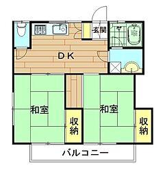 神奈川県川崎市幸区南加瀬4丁目の賃貸アパートの間取り