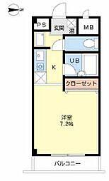 クロワール北梅田[4階]の間取り