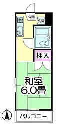 メゾン竹ノ塚[201号室]の間取り