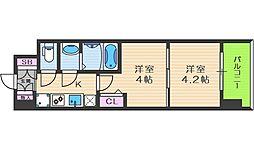 ビガーポリス346京橋II 7階1DKの間取り