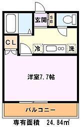 埼玉県川口市鳩ヶ谷緑町2丁目の賃貸アパートの間取り