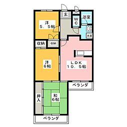 パークヒル板倉[4階]の間取り