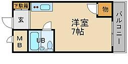 兵庫県伊丹市荒牧南3丁目の賃貸マンションの間取り