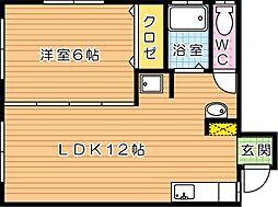 Villa青山(ヴィラ青山)[2階]の間取り