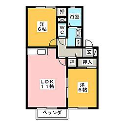 クレールYOU[2階]の間取り