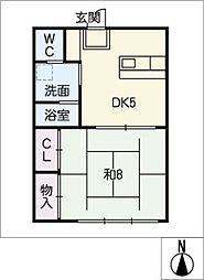川合アパート[1階]の間取り