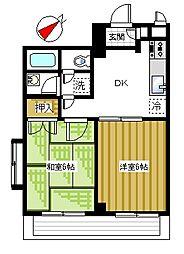 アパートメント曲松[201号室]の間取り