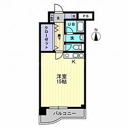 香川県高松市高松町の賃貸マンションの間取り