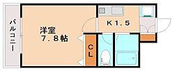 コンフォート富士Ⅲ[3階]の間取り