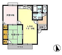 ヴェルドミール B棟[105号室]の間取り