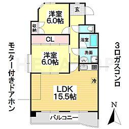 愛知県名古屋市南区大同町5丁目の賃貸マンションの間取り