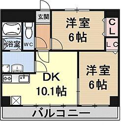 ディンプル阪本[209号室号室]の間取り