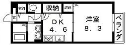 シャンブル[202号室号室]の間取り
