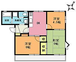 ベルメゾン A棟[1階]の間取り