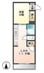 第3ハイツ志津[4階]の間取り