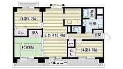 シャルマン鶴見[4階]の間取り