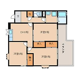静岡県静岡市清水区楠の賃貸アパートの間取り